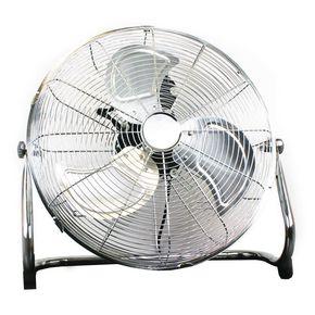 18″ chrome floor fan