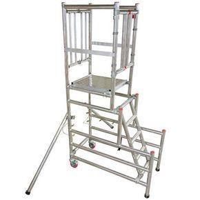 Dual height podium platform steps - BS8620 certified