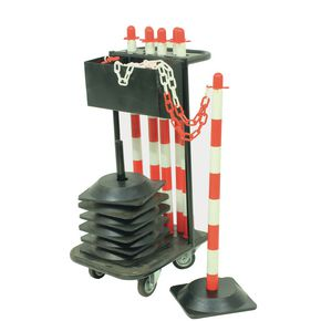 Plastic post and chain trolley