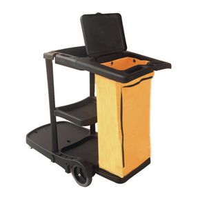 Multi purpose cleaning trolley with bag
