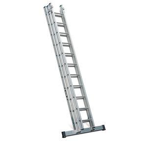 Heavy duty aluminium extension ladders - three section