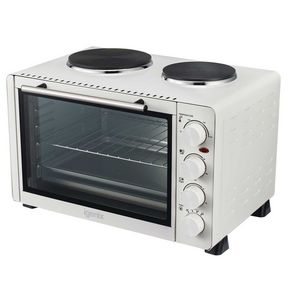 30L Electric mini oven with 2 hotplates