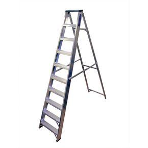 Industrial heavy duty aluminium swingback steps with tool tray