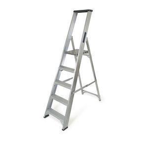 Industrial heavy duty aluminium platform steps with tool tray - EN131 Professional