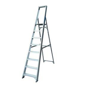 Industrial heavy duty aluminium platform steps
