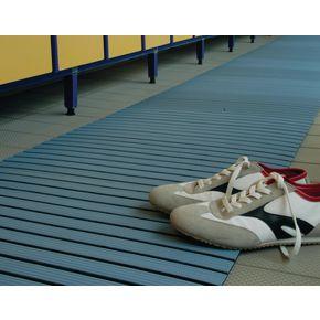 Luxury slatted PVC wet area matting, Yellow 1m cut length