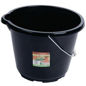 12L Black general purpose bucket