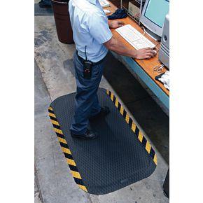 Diamond grip anti-fatigue safety matting