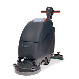 Mains powered floor scrubber