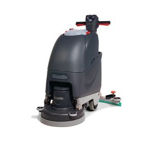 Battery powered floor scrubber