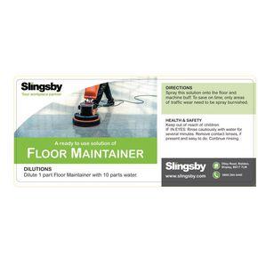 Floor maintainer label