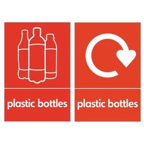 Plastic bottle recycling display boards x2