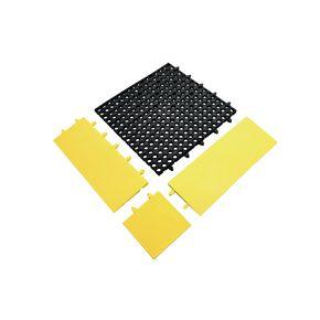 Recycled interlocking drainage floor tiles