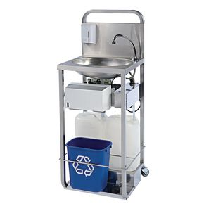 Stainless steel mobile wash station