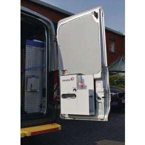 Portable wash station for vans