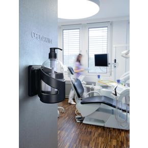 Skipper™ wall mounted hand sanitiser station with magnetic fixing