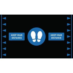 Anti-fatigue social distancing workplace mats