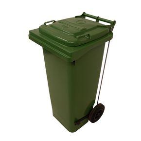 Pedal operated wheelie bins, 80L Green