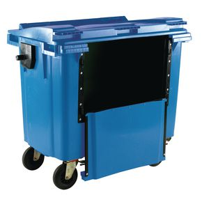 4 wheeled bins with drop down front