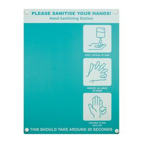 Wall board for hand dispenser