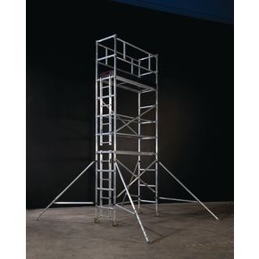 Large platform heavy duty aluminium span towers