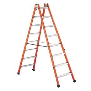 Glass fibre double step ladder