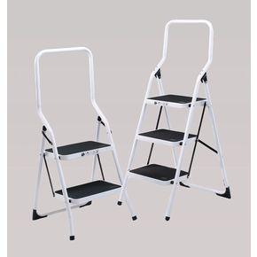 White folding step stools