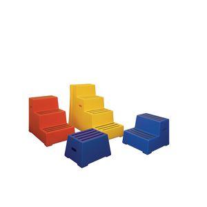 Heavy duty static plastic steps - Four step
