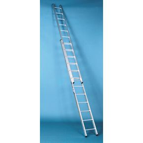 Heavy duty British standard aluminium ladders - Two section rope operated