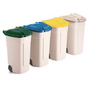 Big wheel recycled waste bin