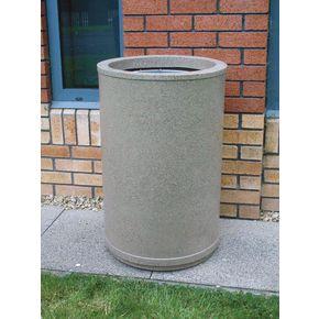 Plastic waste open top bins