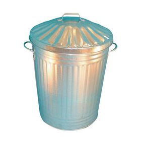 Galvanised dustbins