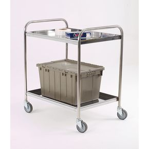 Stainless steel removable shelf trolleys