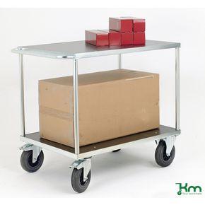 Konga heavy duty two tier shelf trolleys