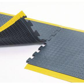 Anti-fatigue rubber chequer plate matting