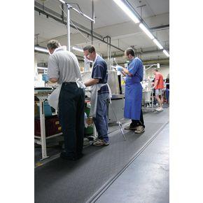 Dual layer industrial anti-fatigue foam matting