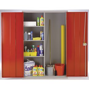 Lockable cleaning cupboard