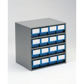 Coloured drawer storage cabinets - 300mm depth