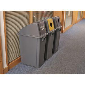 Slim recycling waste bin