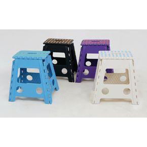 Fold flat plastic step up stools