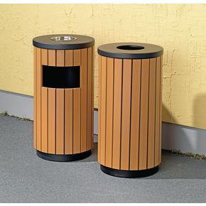 Wood Effect Outdoor Litter Bins Waste Recycling