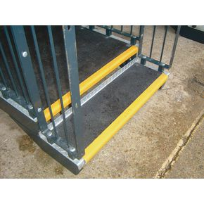 GRP Heavy duty stair treads and landing covers with 55mm nosings