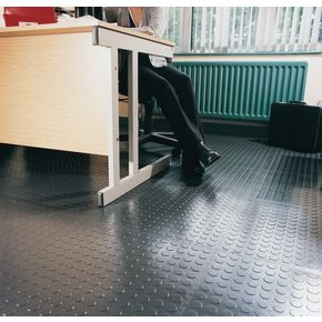Soft 5mm thick studded floor tiles