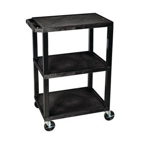 Heavy duty two and three tier plastic trolleys