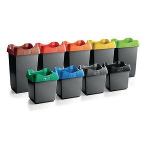 Open top recycling bins