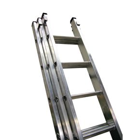 BS2037 Ladders for extra heavy duty industrial use - three section