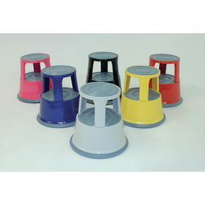 Steel mobile safety step stools