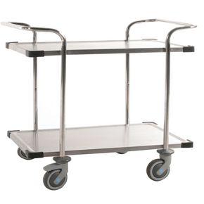 Konga stainless steel trolleys with pram type handles, Class C3