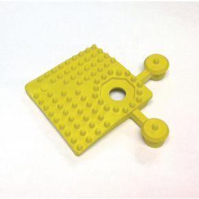 PVC corner pieces for heavy duty open grid interlocking floor tiles