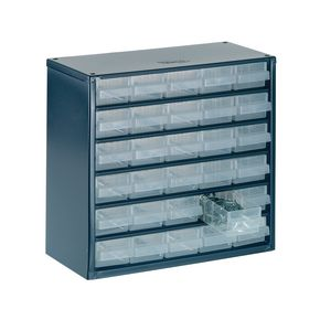 Raaco Professional clear drawer storage cabinets - 283mm height